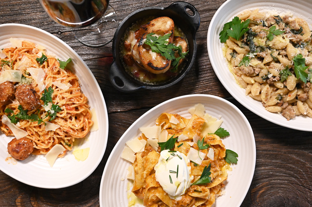 This is a photo of Posto Italian's signature dishes.