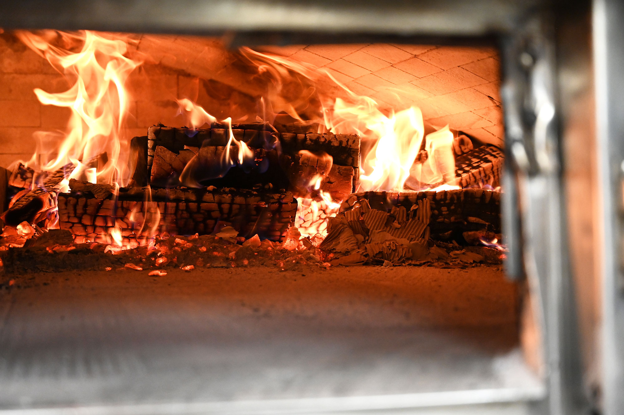 This is a photo of the wood-fired oven at Posto Longmeadow