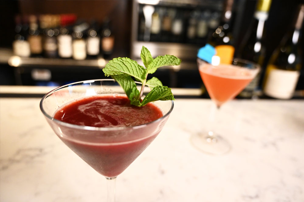 This is a photo of two signature drinks at Posto Italian.